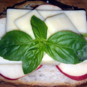 April 14 Bravo Farm Premiun Cheddar Pink Lady Apple and Fresh Basil