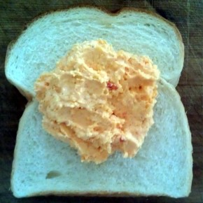 April 8 Pimento Cheese on Wonder Bread
