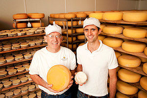 Mike Gingrich and Andy Hatch of Uplands Cheese