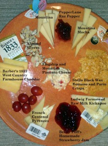Super Bowl Cheese Plate