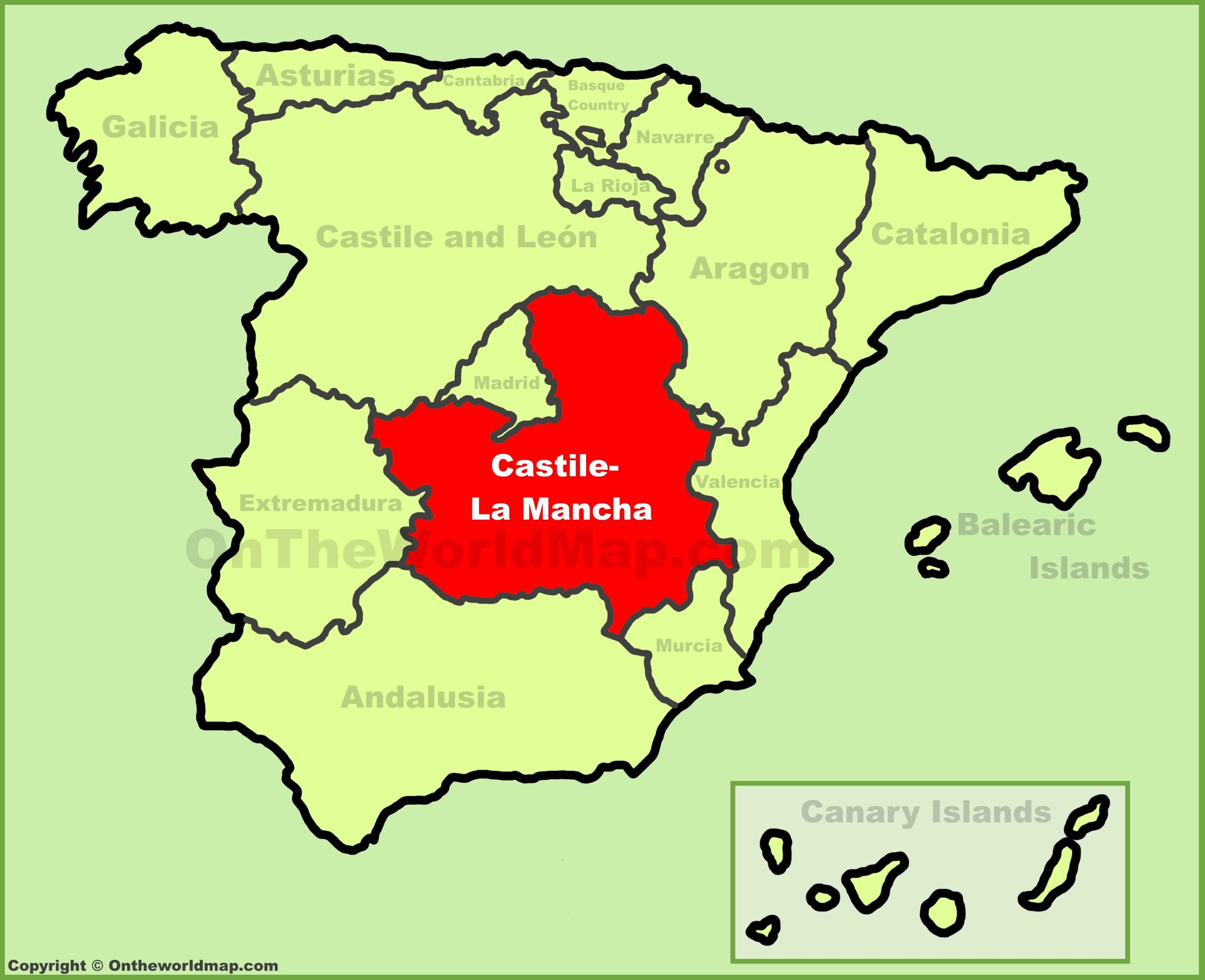castile la mancha location on the spain map | Marcella The